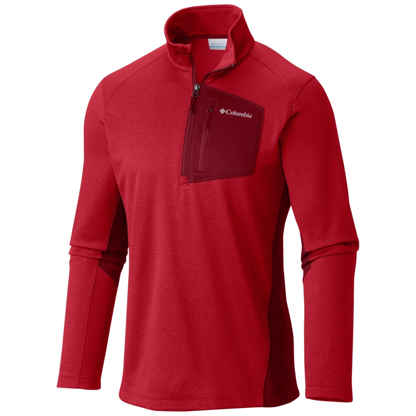 Columbia Men's Jackson Creek II Half Zip Mountain Red Heather-30