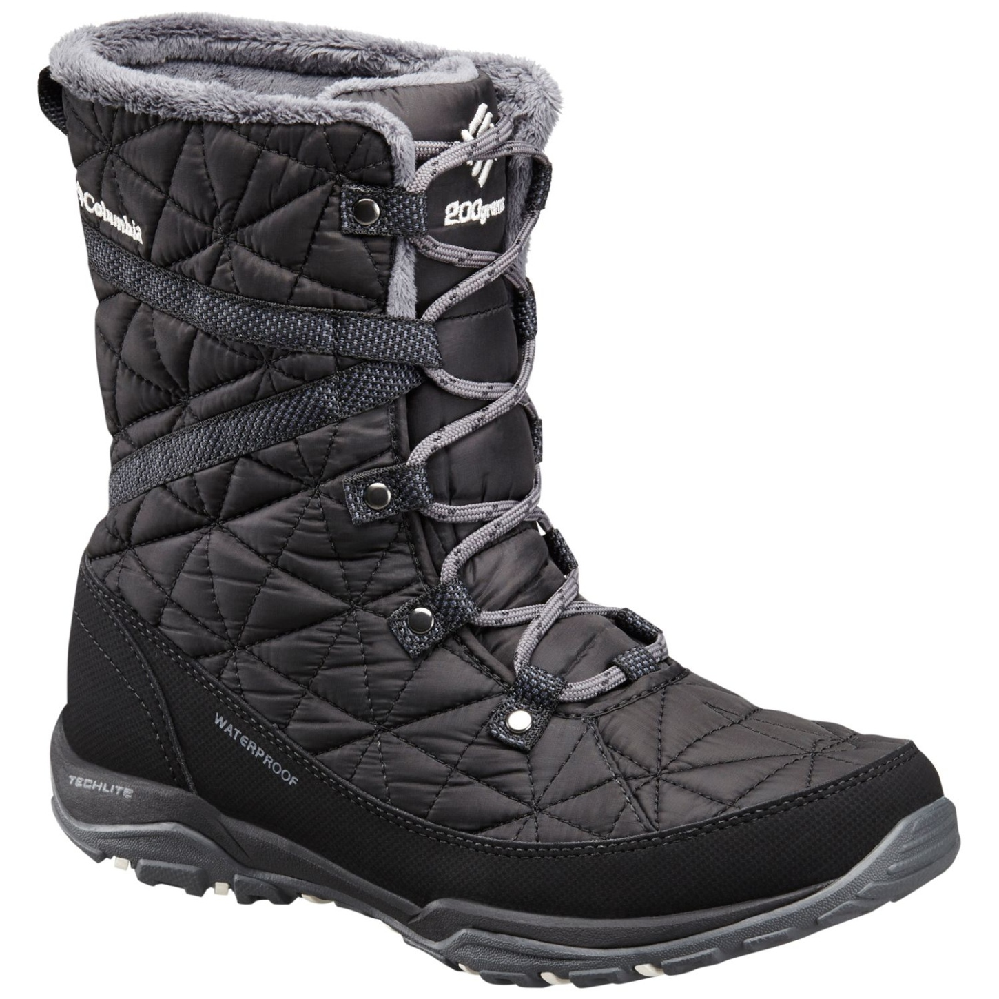 Columbia Women's Loveland Mid Omni-heat Waterproof Winter Boots Black, Sea Salt-30