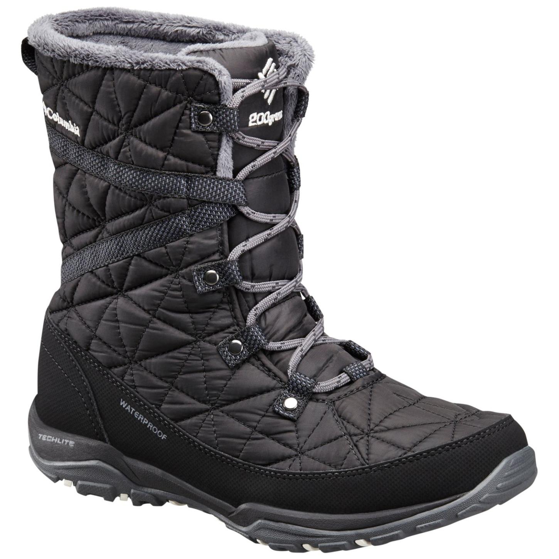 Columbia Women's Loveland Mid Omni-heat Waterproof Winter Boots Black, Sea Salt-30