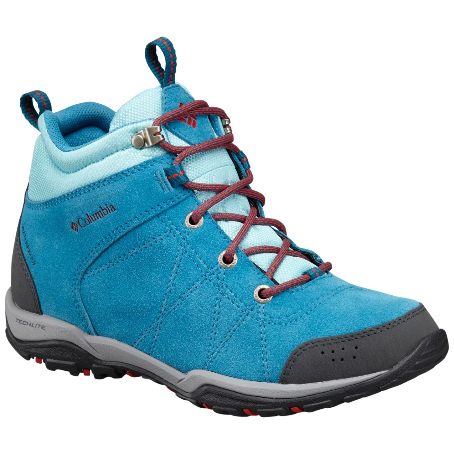 Columbia Women's Fire Venture Mid Waterproof Trail Boots Oxide Blue, Spicy-30