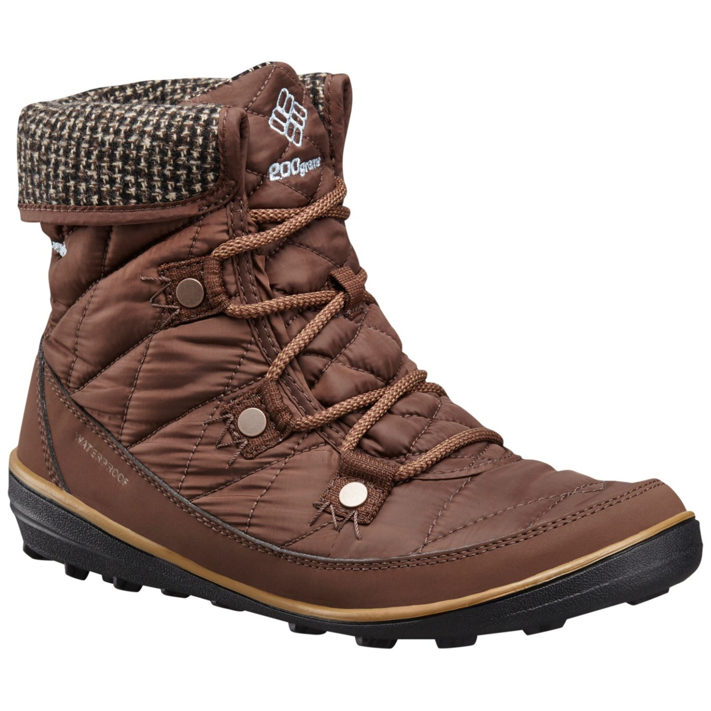 Columbia Women's Heavenly Shorty Omni-heat Knit Winter Boots Tobacco, Dark Mirage-30