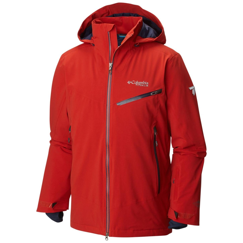 Columbia Men's Carvin' Ski Jacket Rust Red-30