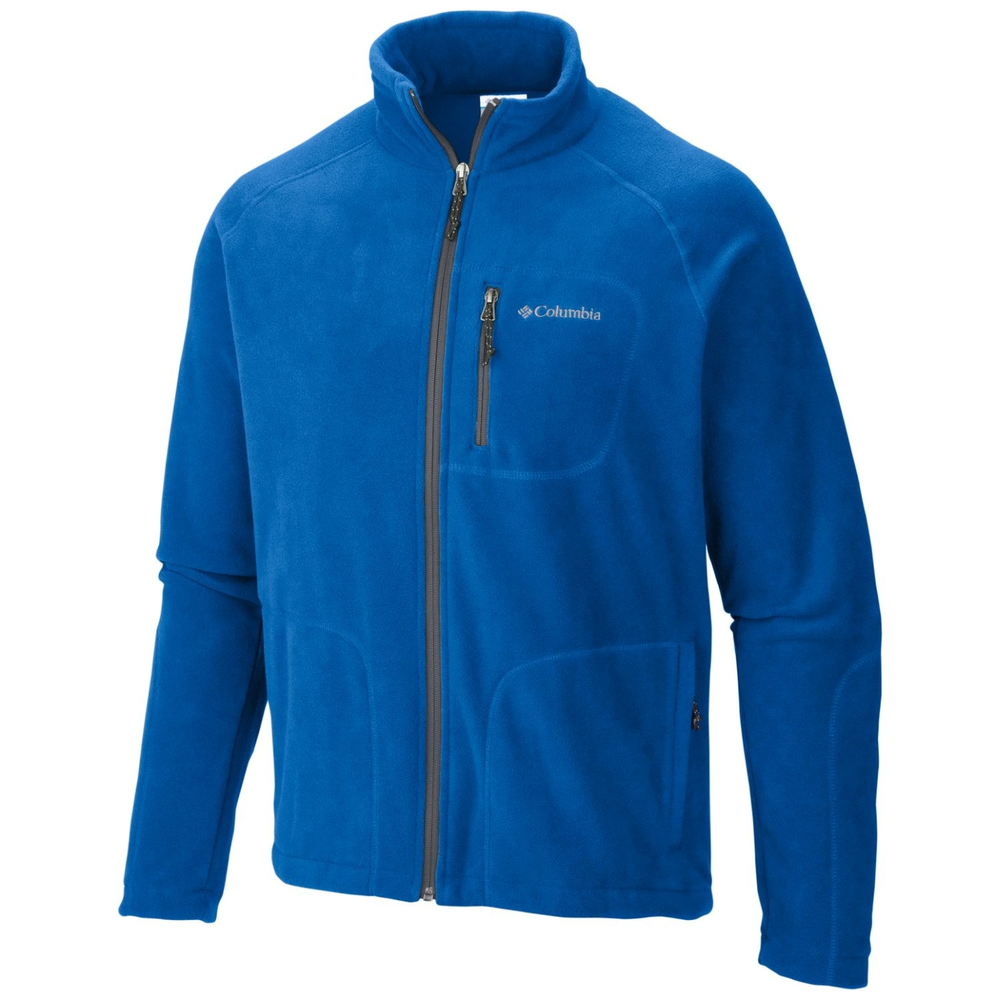 Columbia Men's Fast Trek II Full Zip Fleece Super Blue, Graphite-30