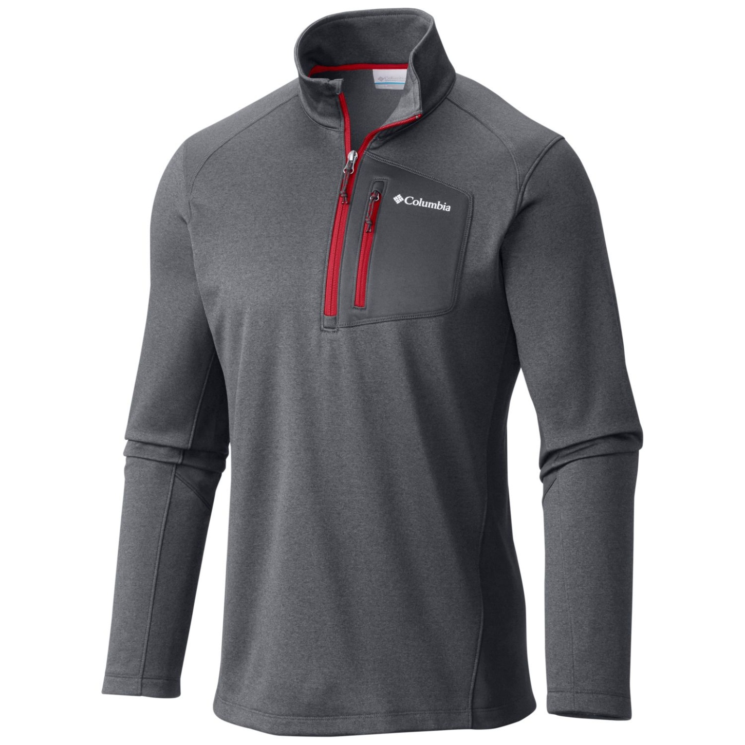 Columbia Men's Jackson Creek II Half Zip Graphite Heather-30