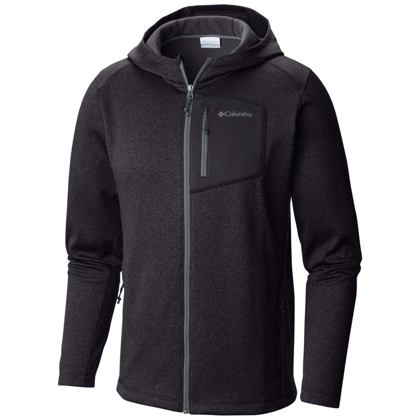 Columbia Men's Jackson Creek II Hoodie Black Heather-30