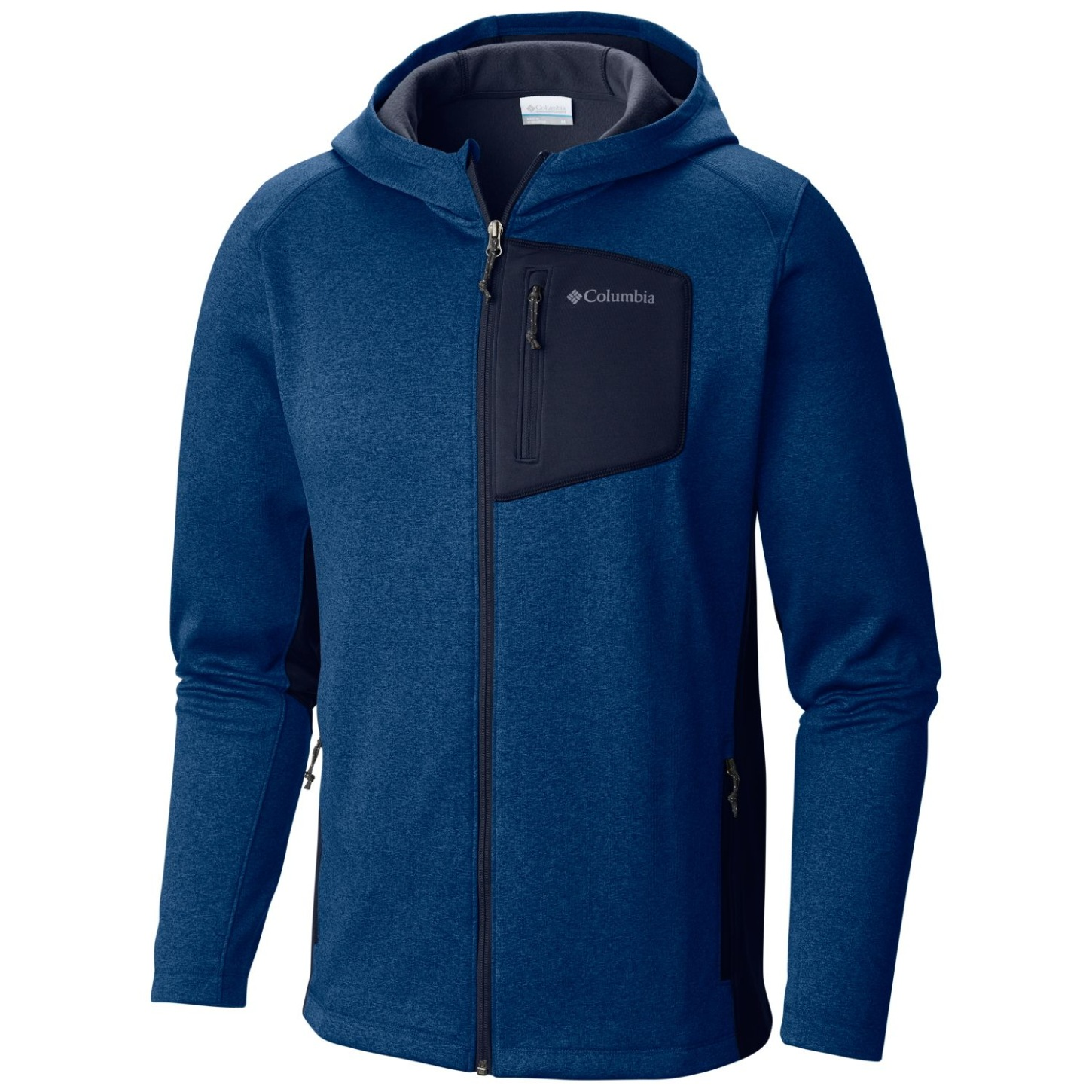 Columbia Men's Jackson Creek II Hoodie Marine Blue Heather-30