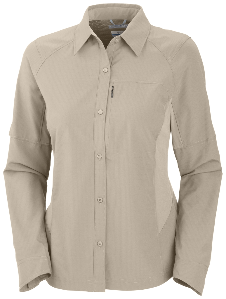 Columbia Women's Silver Ridge Long Sleeve Shirt Fossil-30