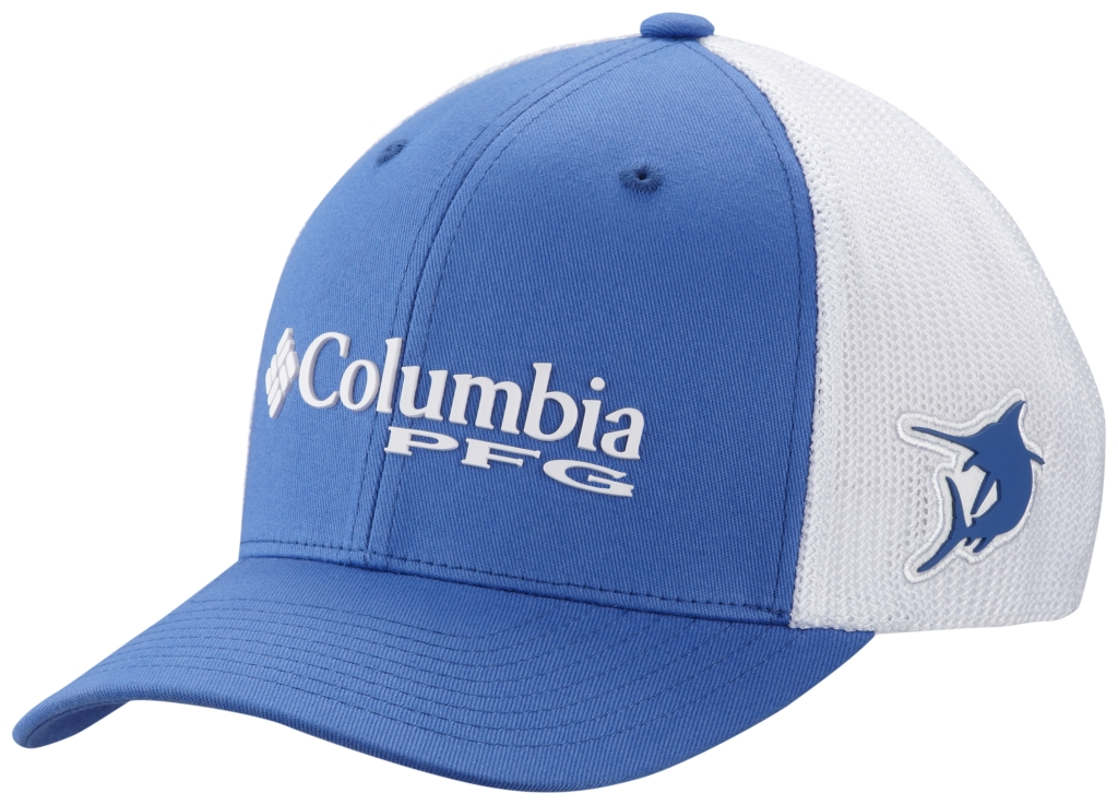 Columbia Pfg Mesh Ball Cap Vivid Blue-30