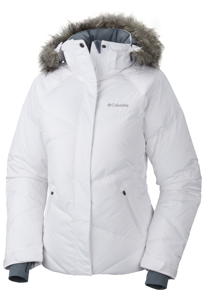 Columbia Women's Lay 'D' Down Jacket White-30