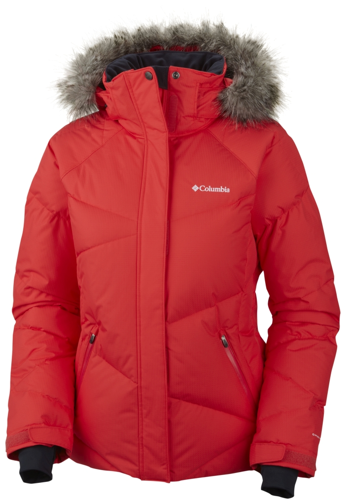 Columbia Women's Lay 'D' Down Jacket Red Hibiscus-30