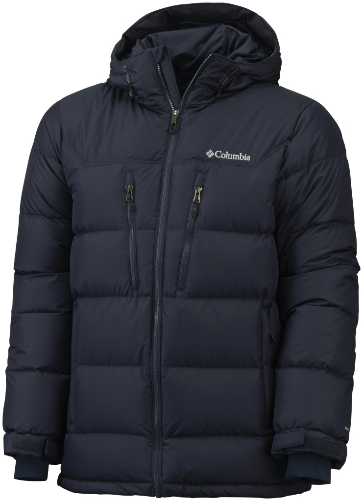 Columbia Men'S Alaskan II Down Hooded Jacket Abyss-30