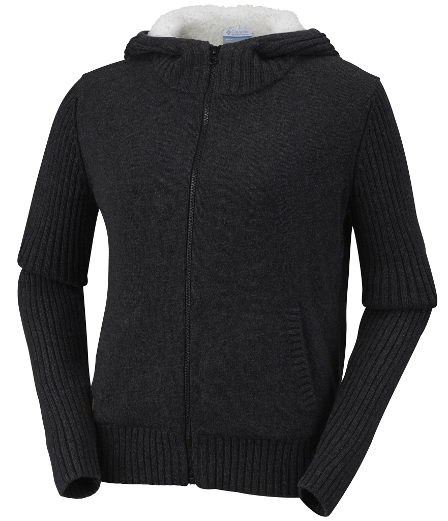 Columbia - Women's She Pines For Alpine Hooded Sweater Black - Woll Sweaters -