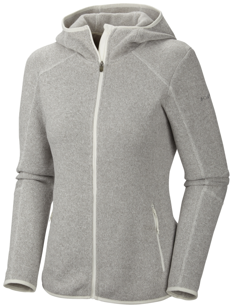 Columbia Women's Altitude Aspect Hooded Fleece Jacket Full Zip Sea Salt-30