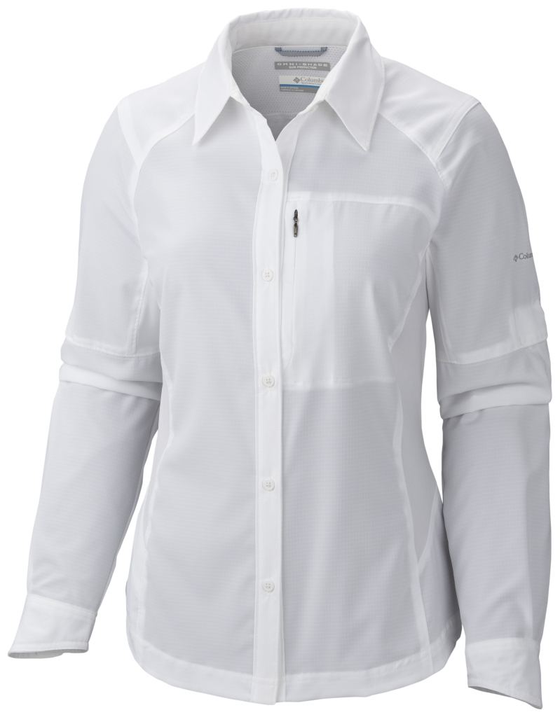 Columbia Women's Silver Ridge Long Sleeve Shirt White-30