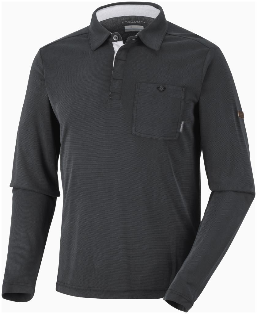 Columbia Men's Sun Ridge II Long Sleeve Polo Black-30