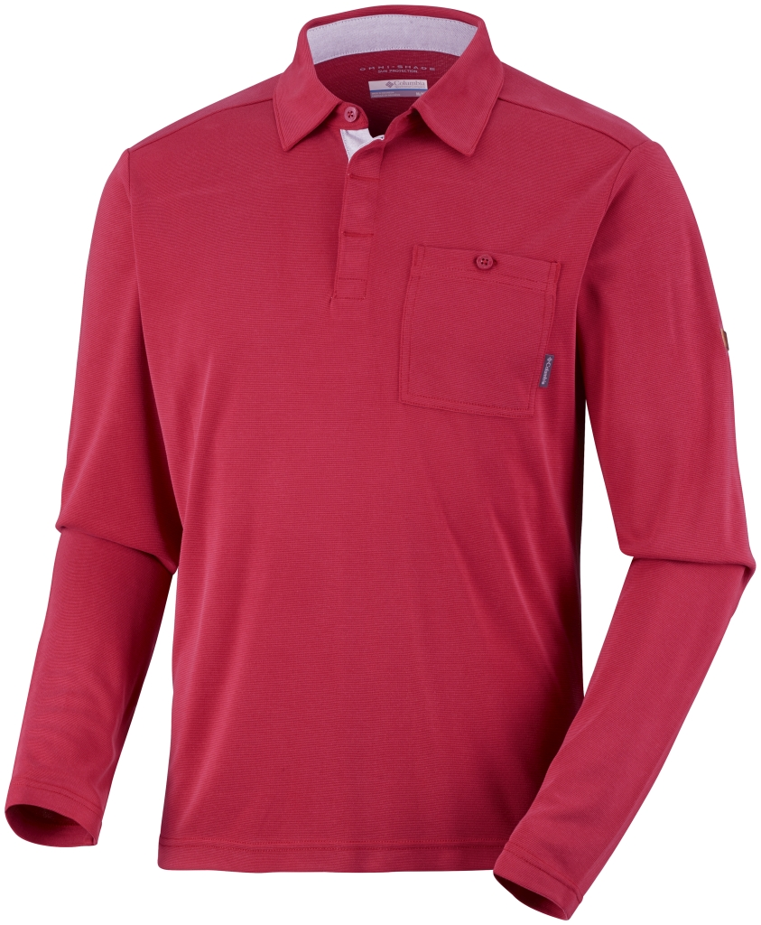 Columbia Men's Sun Ridge II Long Sleeve Polo Rocket-30
