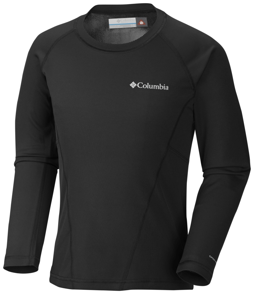 Columbia Youth Baselayer Midweight Crew 2 Black B-30