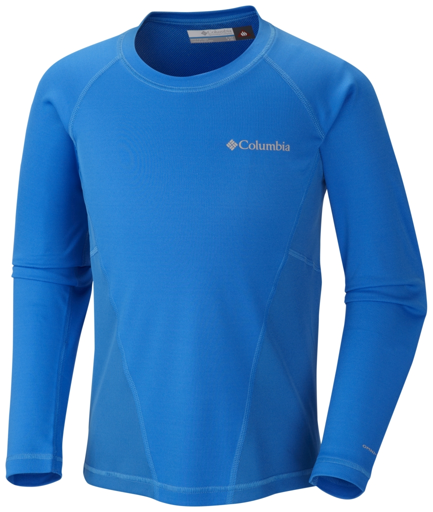 Columbia Youth Baselayer Midweight Crew 2 Hyper Blue-30