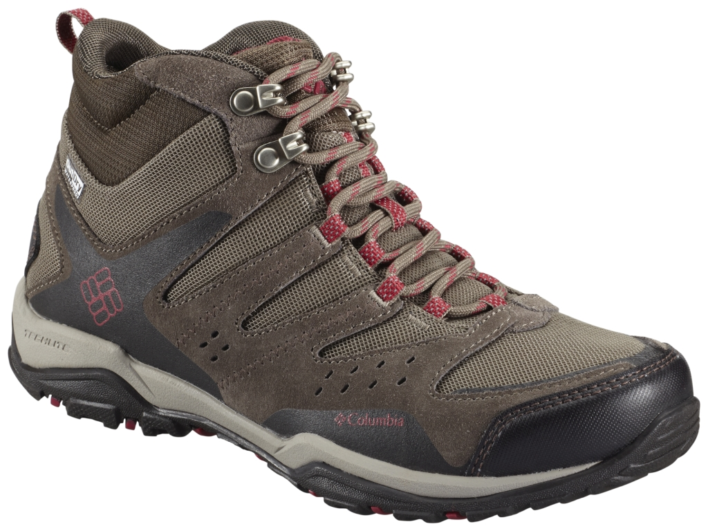 Columbia Women's Peakfreak Xcrsn Mid Outdry® Shoe Pebble Red Orchid-30