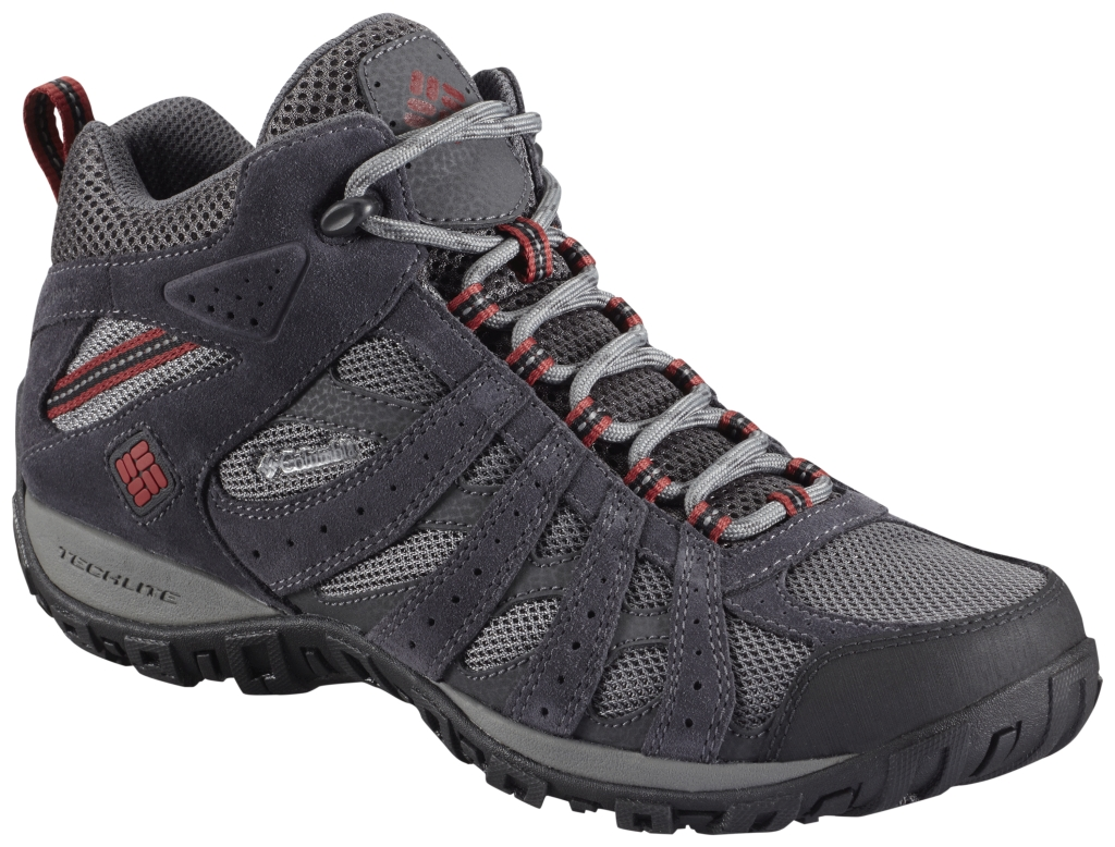Columbia Men'S Redmond Waterproof Mid Charcoal Garnet Red-30