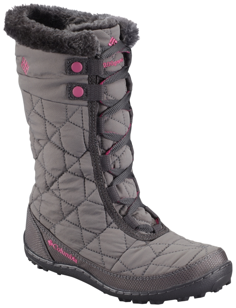 Columbia Youth Minx Mid II Waterproof Omni-Heat Shale Glamour-30