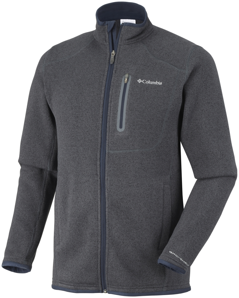 Columbia Men's Altitude Aspect Full Zip India Ink Heather-30