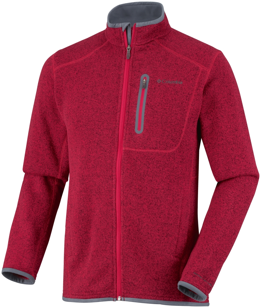 Columbia Men's Altitude Aspect Full Zip Bright Red Heather-30