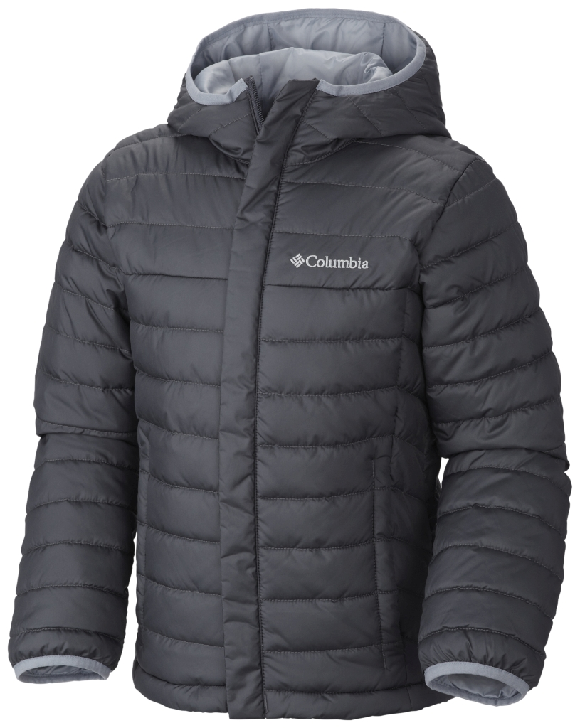Columbia Boys' Powder Lite Puffer Graphite-30