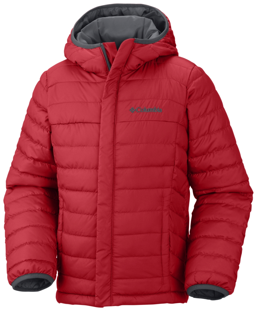 Columbia Boys' Powder Lite Puffer Bright Red-30