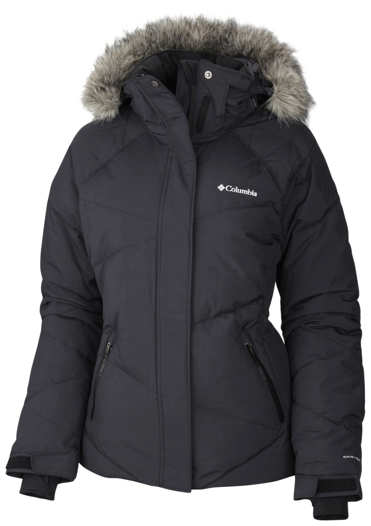 Columbia Women's Lay 'D' Down Jacket Black Metallic-30