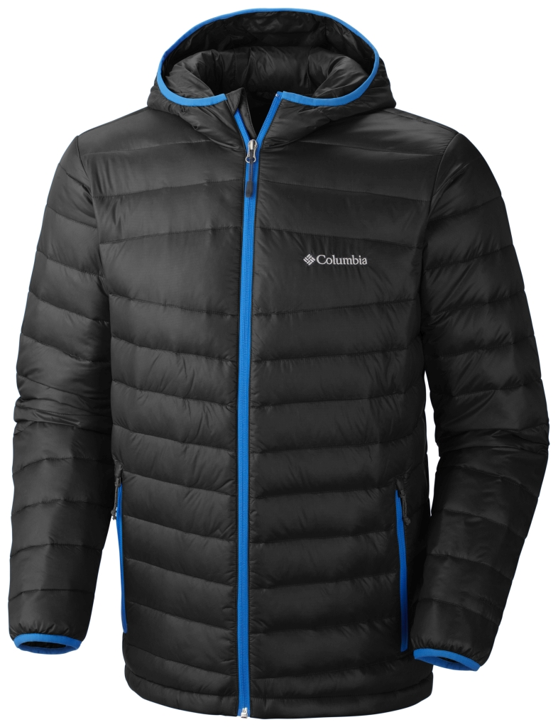 Columbia Men's Platinum 860 Turbodown Hooded Down Jacket Black Hyper Blue-30