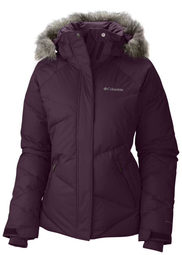 Columbia Women's Lay 'D' Down Jacket Purple Dahlia Dobby-30