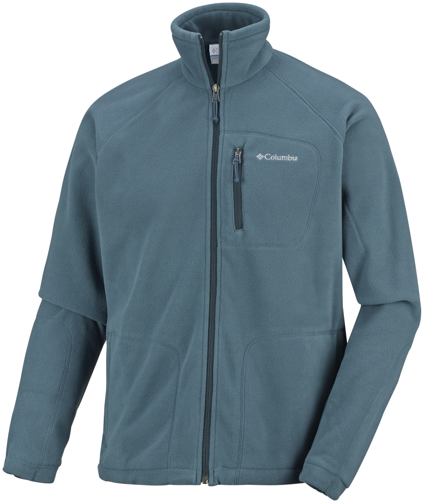 Columbia Men's Fast Trek II Full Zip Fleece Everblue Night Shadow-30