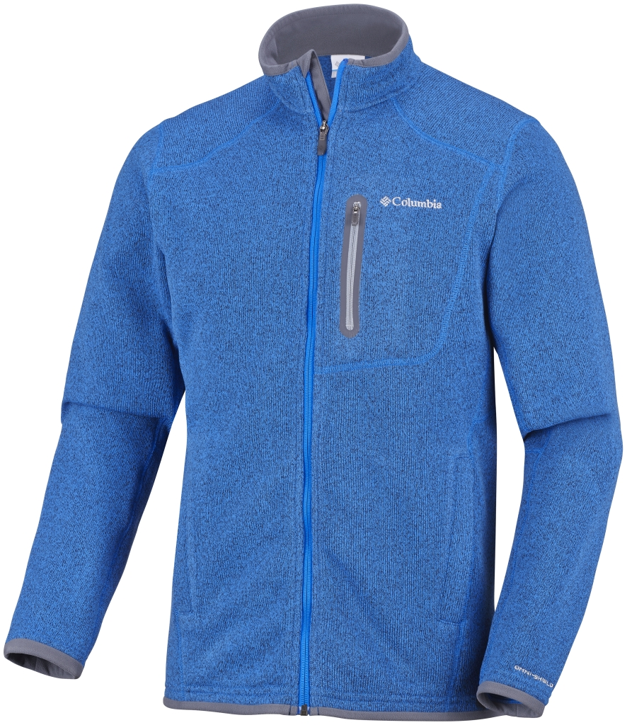 Columbia Men's Altitude Aspect Full Zip Hyper Blue Heather-30