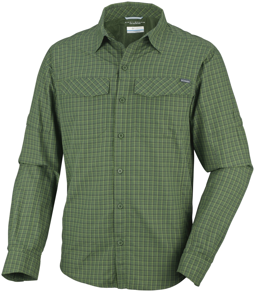 Columbia Men's Silver Ridge Plaid Long Sleeve Shirt Woodland Plaid-30