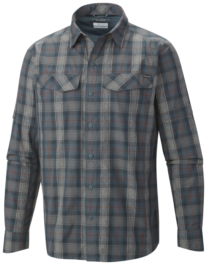 Columbia Men'S Silver Ridge Plaid Long Sleeve Shirt Everblue Plaid-30