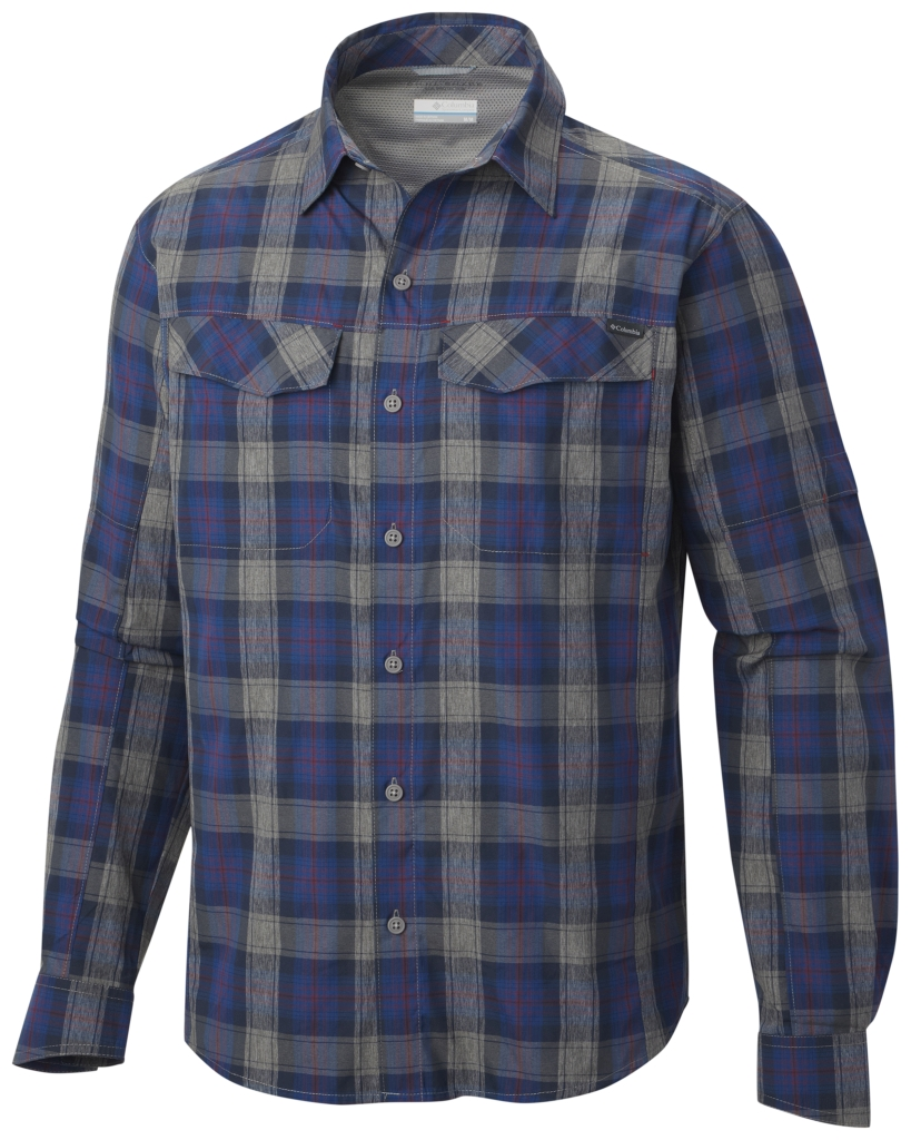 Columbia Men'S Silver Ridge Plaid Long Sleeve Shirt Rocket Plaid-30