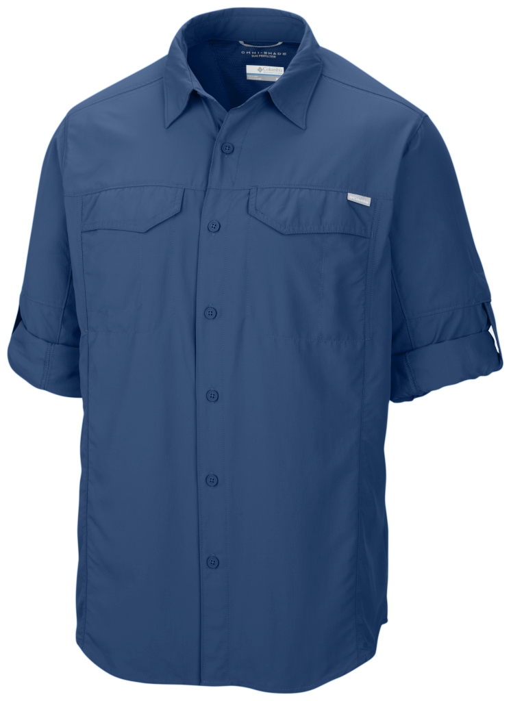 Columbia Silver Ridge Long Sleeve Shirt Marine Blue-30