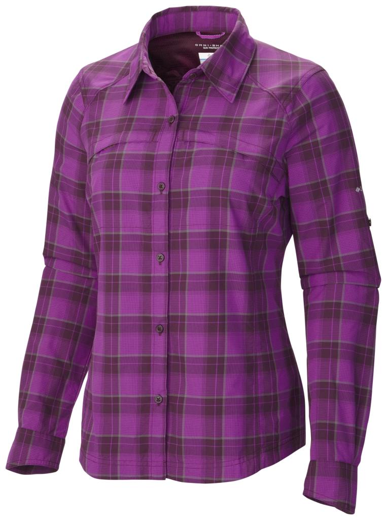 Columbia Silver Ridge Langarm-Hemd Mit Karomuster Für Damen Purple Dahlia Mid Plaid-30