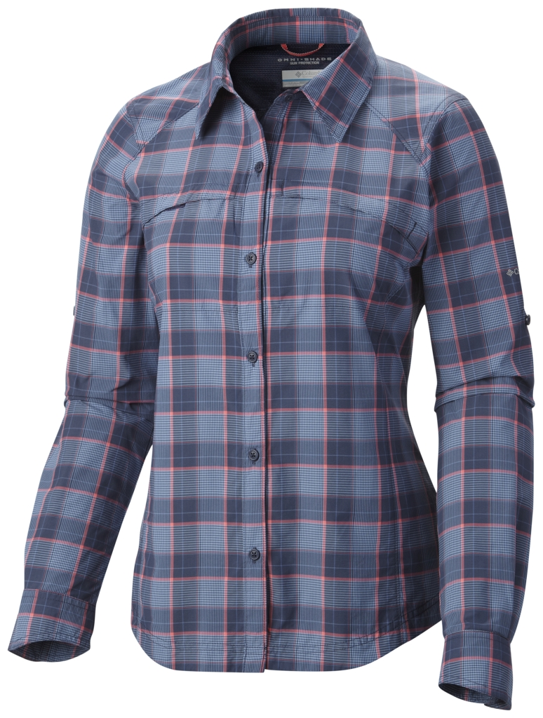 Columbia Women's Silver Ridge Plaid Long Sleeve Shirt Nocturnal Mid Plaid-30
