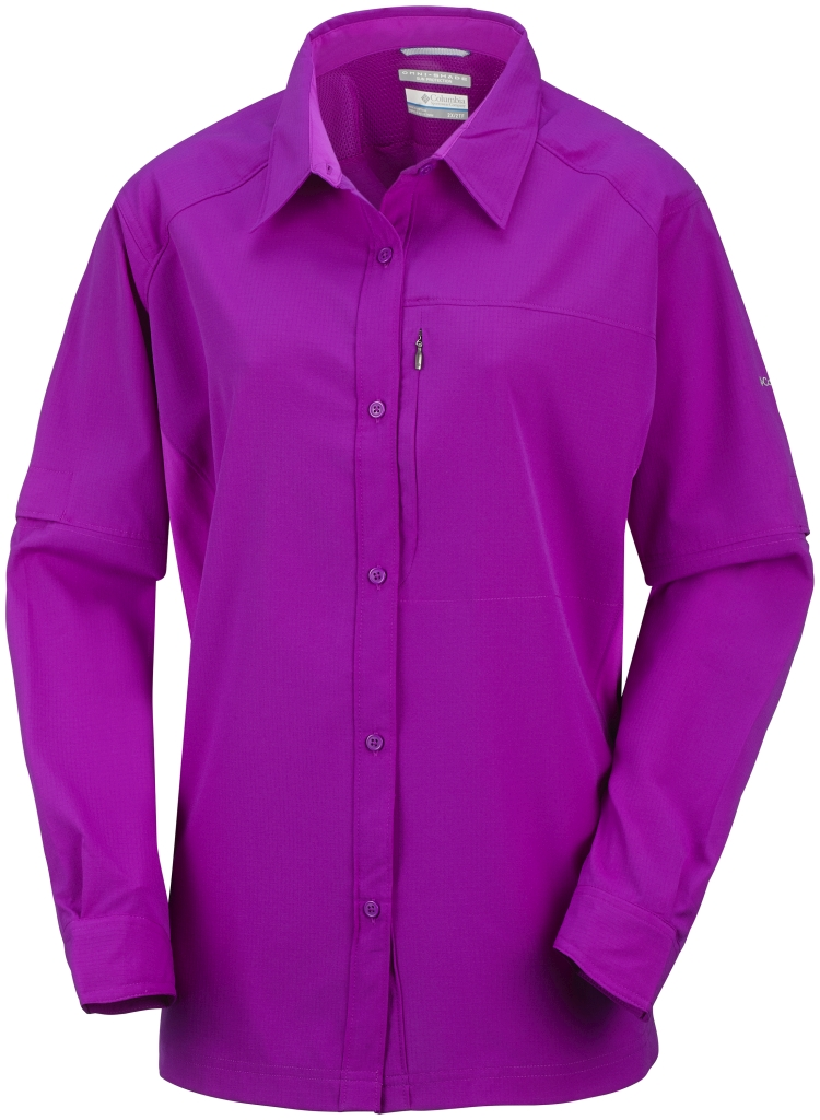 Columbia Women's Silver Ridge Long Sleeve Shirt Extended Size Bright Plum-30