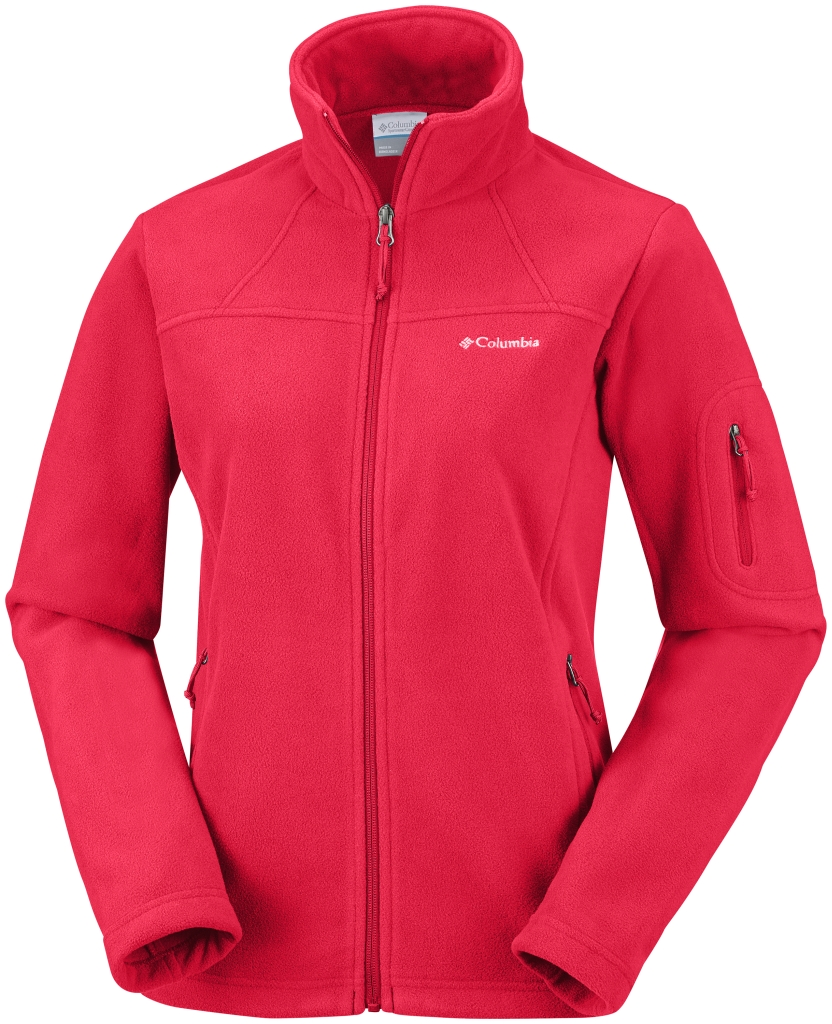 Columbia Women's Fast Trek II Jacket Red Hibiscus-30