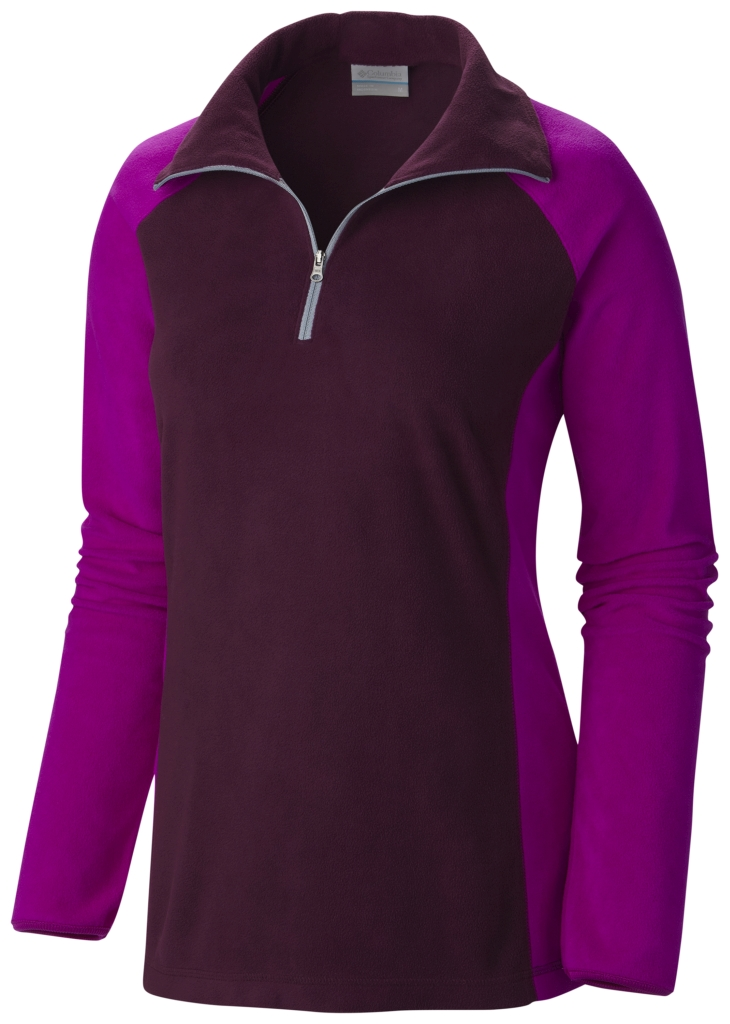 Columbia Women's Glacial Fleece III 1/2 Zip Purple Dahlia Bright Plum-30