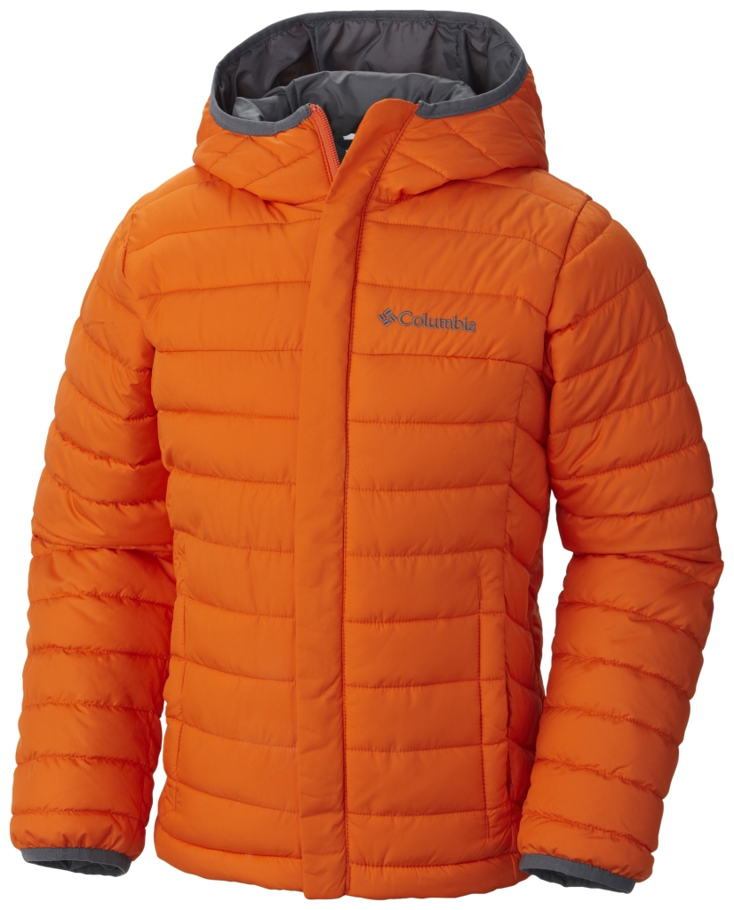 Columbia Boys' Powder Lite Puffer Tangy Orange-30