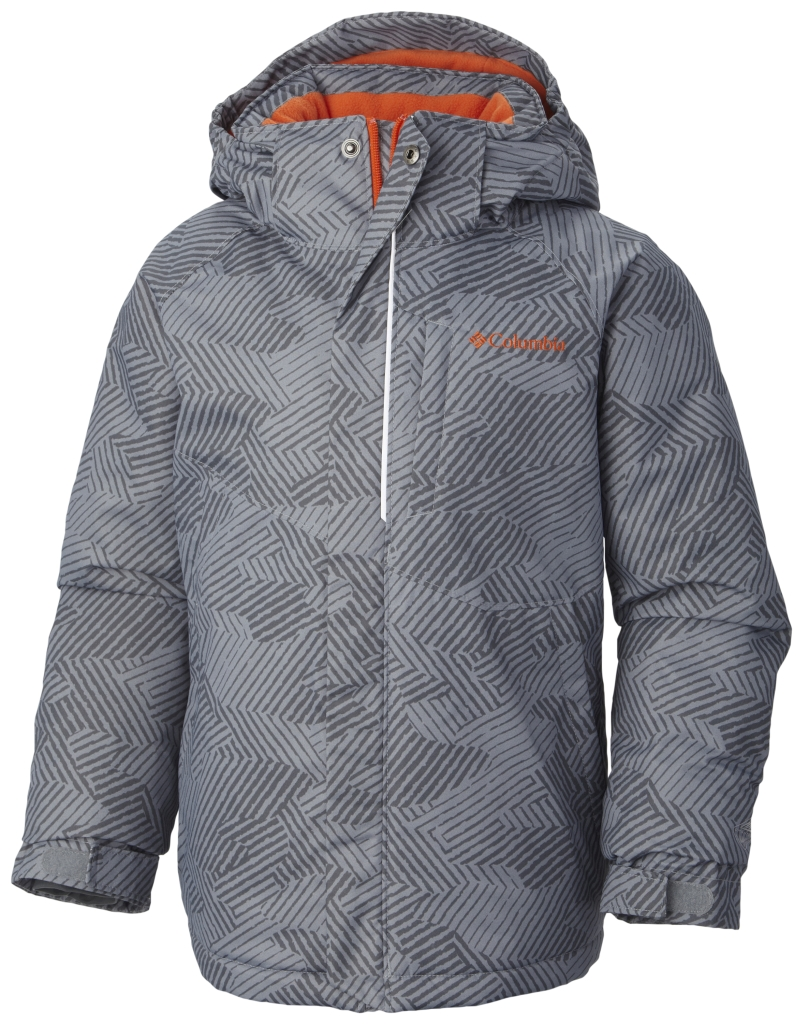 Columbia Boys' Evo Fly Jacket Tradewinds Grey Print Tangy O-30