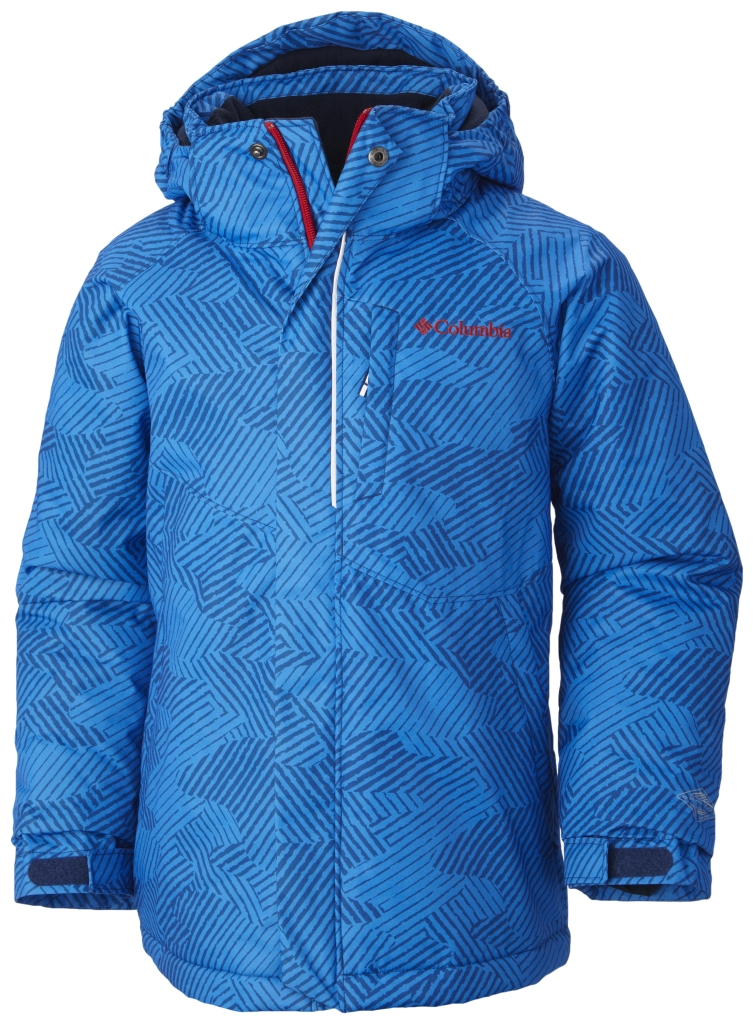 Columbia Boys' Evo Fly Jacket Marine Blue Print-30