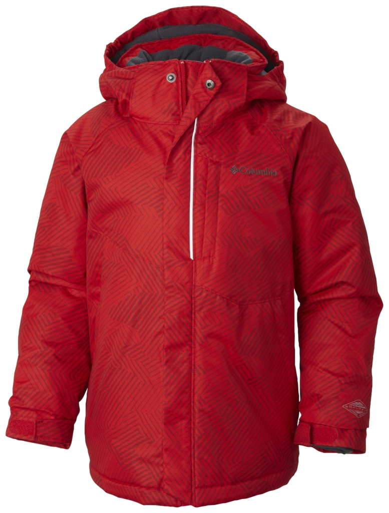Columbia Boys' Evo Fly Jacket Bright Red Print Graphite-30