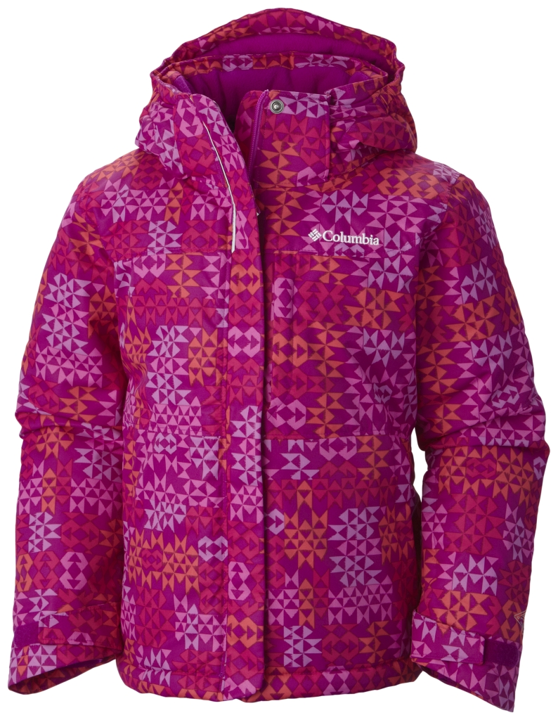Columbia Girls' Nordic Jump Jacket Bright Plum Print-30