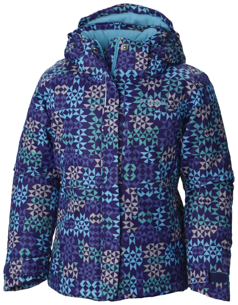 Columbia Girls' Nordic Jump Jacket Light Grape Print-30