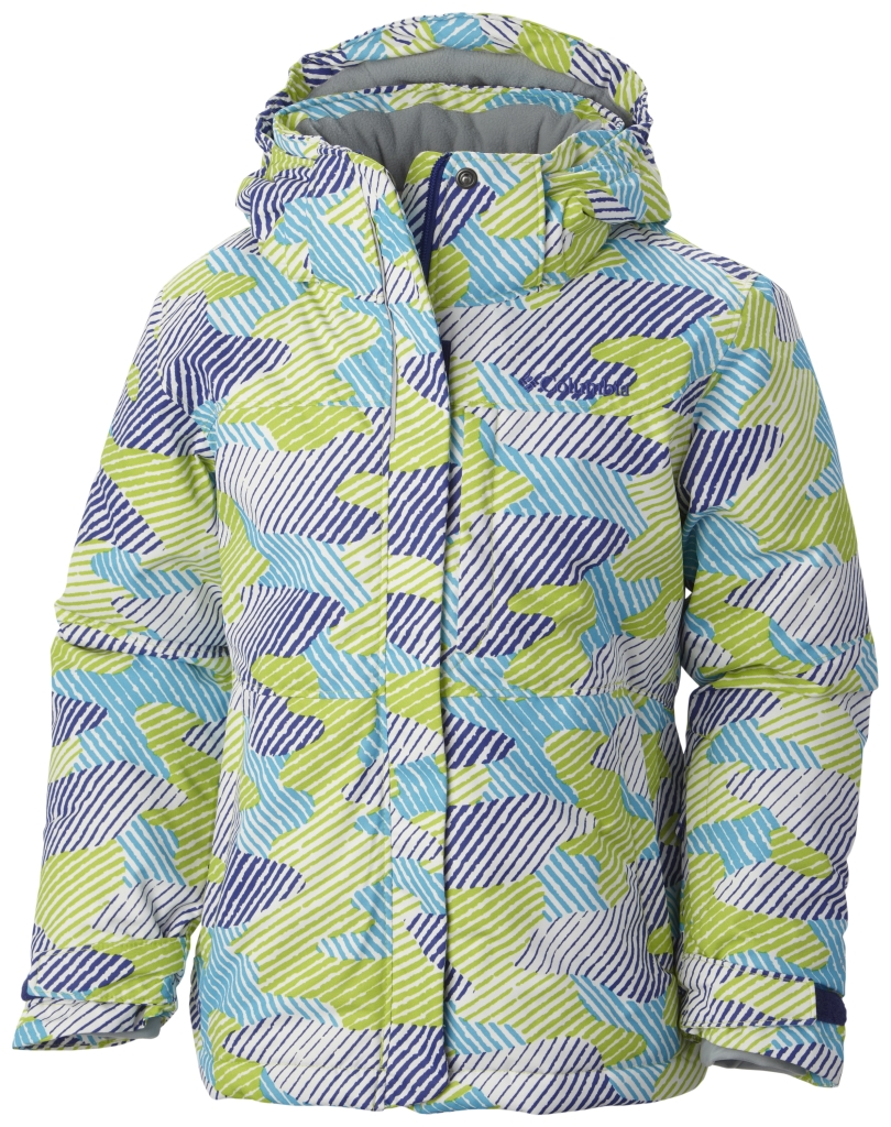 Columbia Girls' Nordic Jump Jacket Light Grape Camo-30